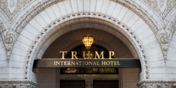 The Trump International Hotel entrance