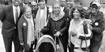 Muriel Bowser and her supporters