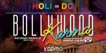 "'Bollywood Karma"" Holi Festival poster"