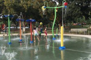 Water spray for children.