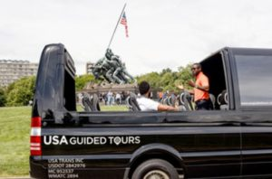 USA Guided Tours vehicle.