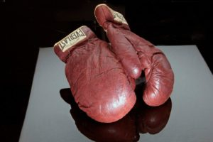 Boxing gloves at the National Museum of American History.