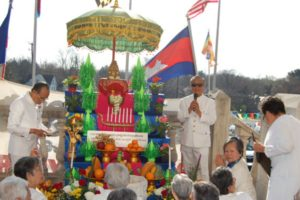 Cambodian New Year ceremony.