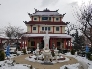 A Buddhist temple.