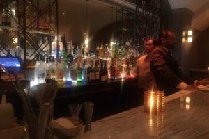 A restaurant bar.