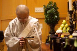 A Buddhist monk.