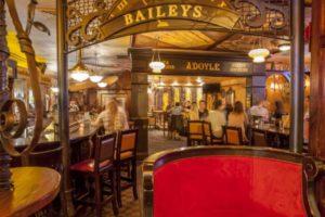 Customers at Fado Irish pub.