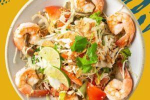Burmese shrimp bowl