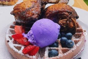 Purple yam ice cream