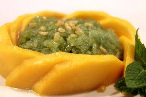A mango dish.
