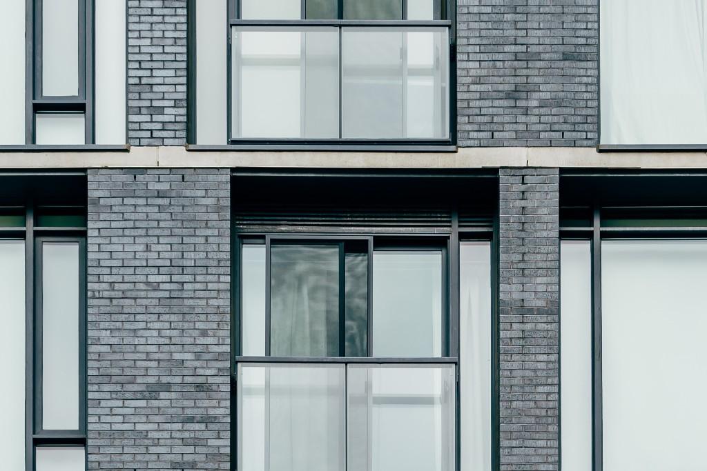 An apartment building.