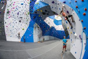 People climbing at the Crystal City location of Earth Treks
