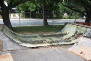 A mini ramp at K-town Skatepark.