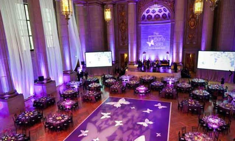 A ballroom at Andrew W. Mellon Auditorium