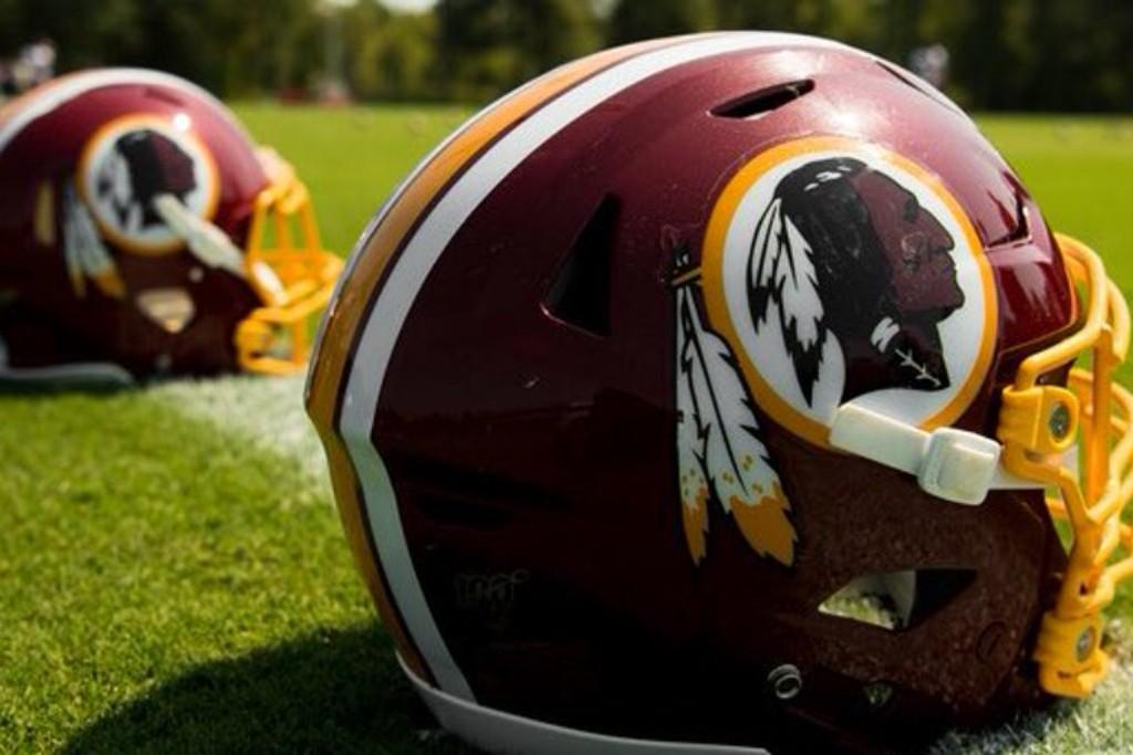 Washington Redskins helmets.