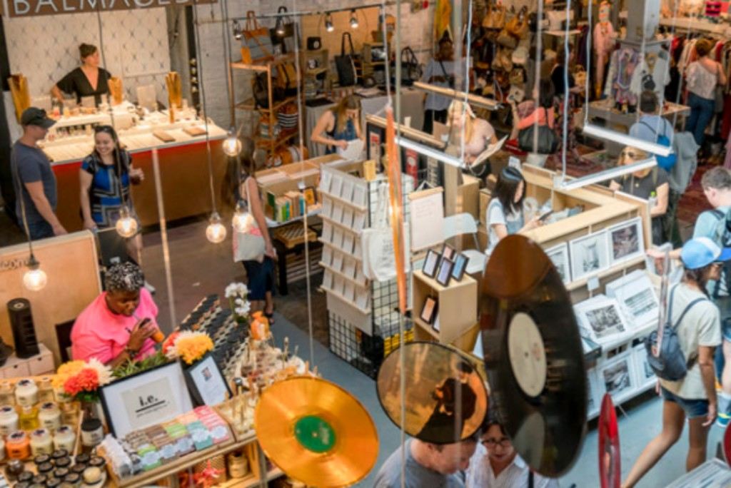 The Artists & Fleas store in Williamsburg, NYC