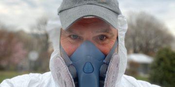 Spanish-American celebrity chef José Andrés in coronavirus protection gear