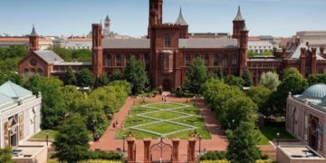 The Smithsonian Institution's first building, known as the Castle.