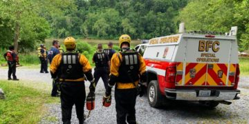Emergency responders recovered a body from the Potomac River on June 11, 2020.