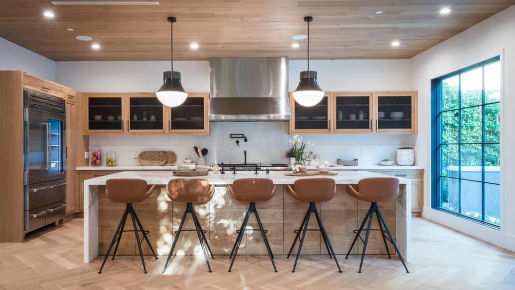 Smart storage solutions are among the most popular kitchen remodeling design ideas.