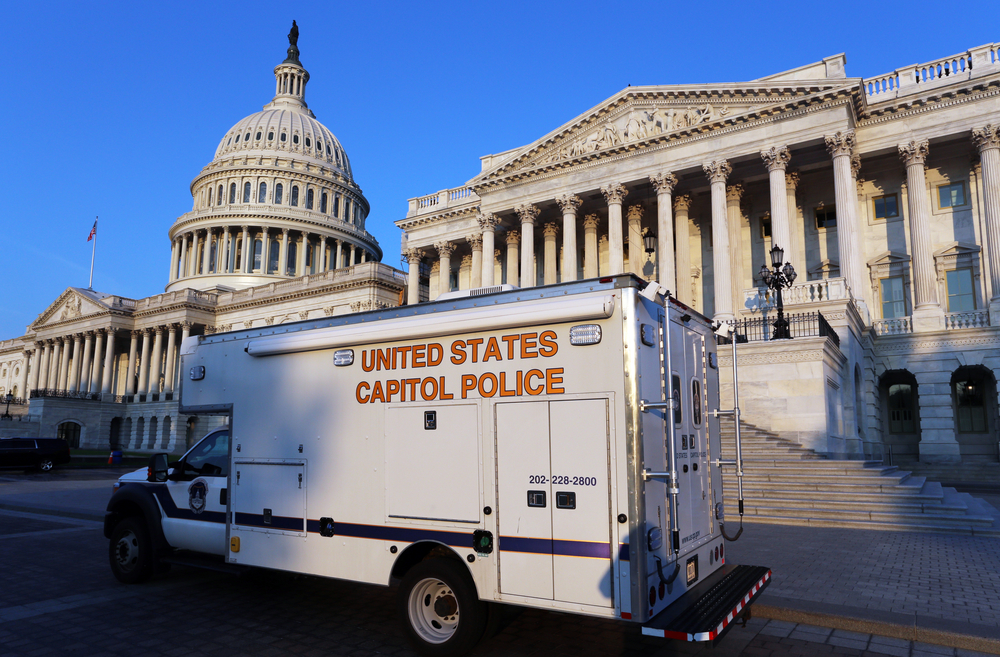 US Capitol Police truck